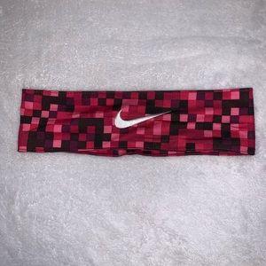 Pink Checkered Nike Headband